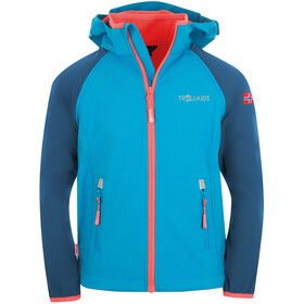 TROLLKIDS Rondane XT Zip Off Jacket Kids midnight blue/cerulean/coral